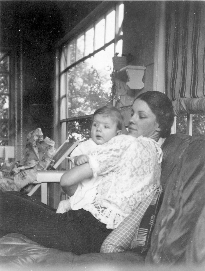 Betty Wilson holding Janice Ruth, her firstborn.