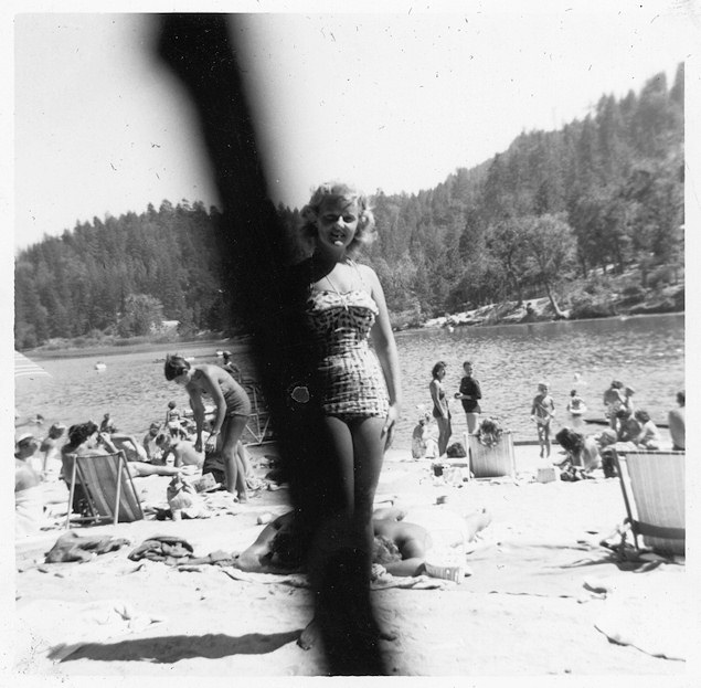 Martha at Lake Gregory.