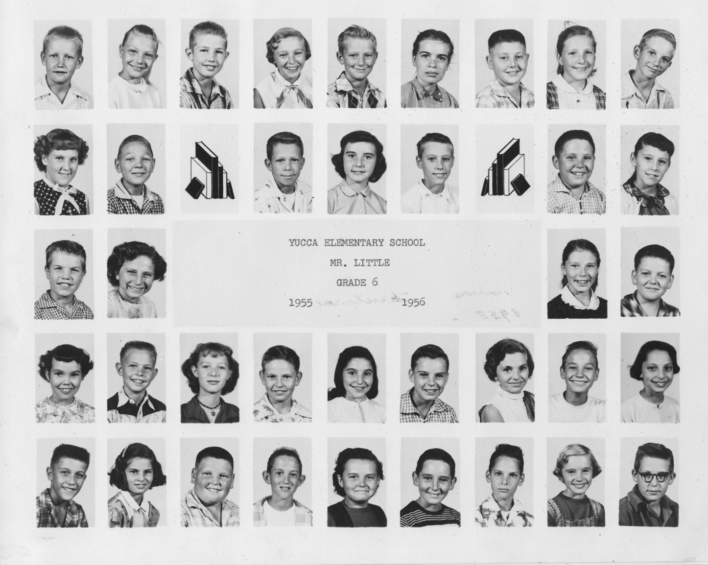 Yucca School, Sixth Grade, 1955-6, Mr. Little