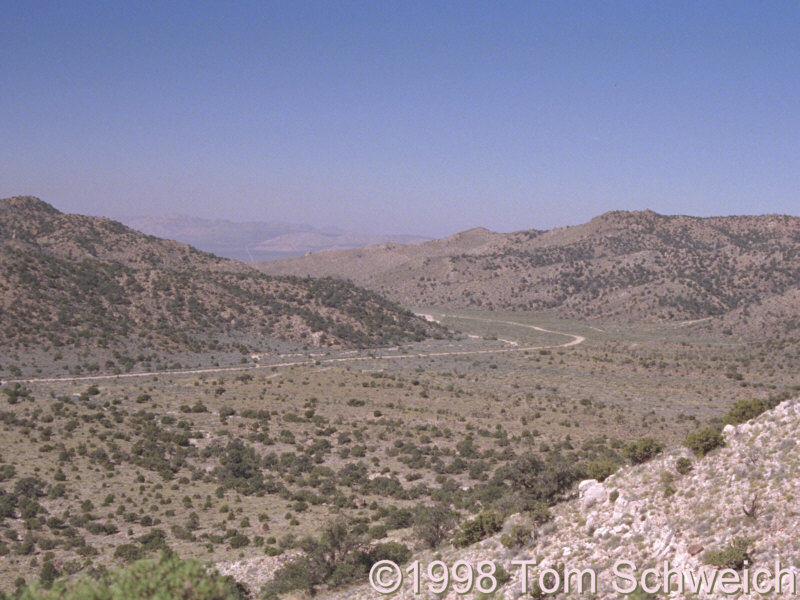 Cedar Canyon as seen from Pinto Mountain