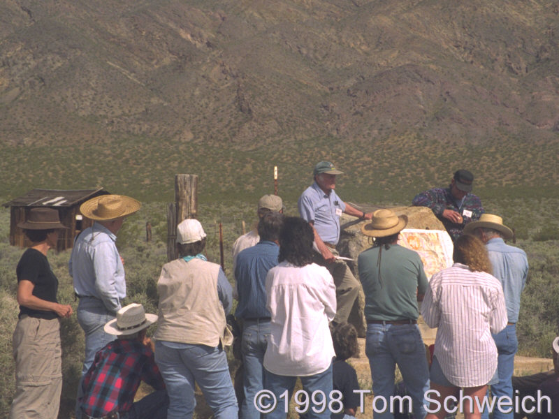Group from the San Bernardino Museum learns  the history of studies of the Garlock Fault