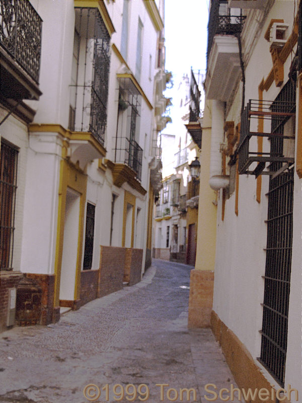 Narrow street in Barrio de Santa Maria.