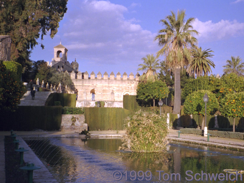 View of Alcazar in Cordoba.