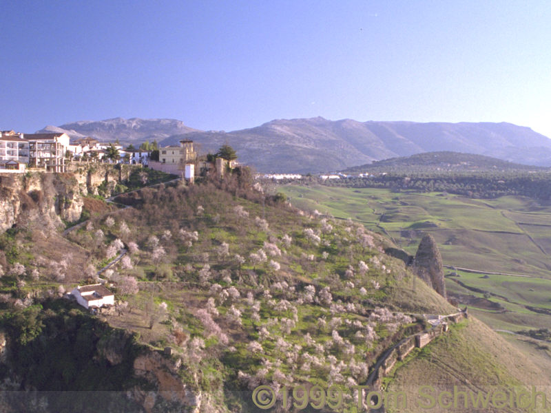 Looking southeast along the edge of Ronda.