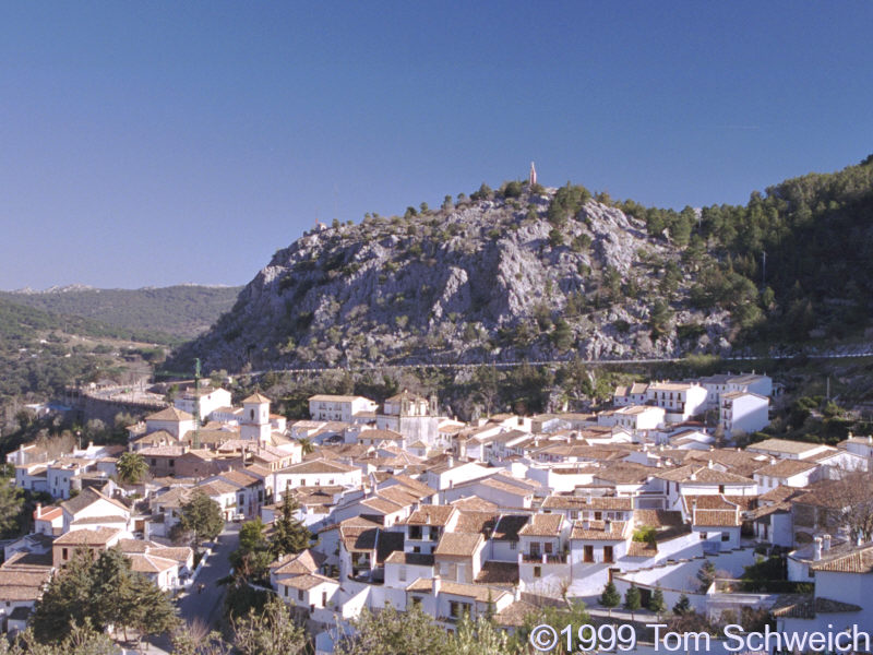 View of Grazalema from above.