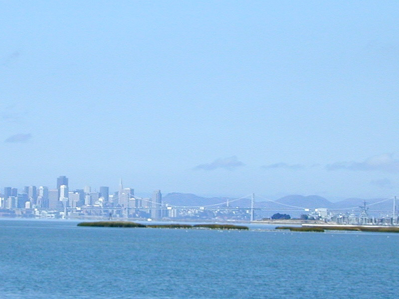 View of San Francisco from Bay Farm Island Bridge, Alameda
