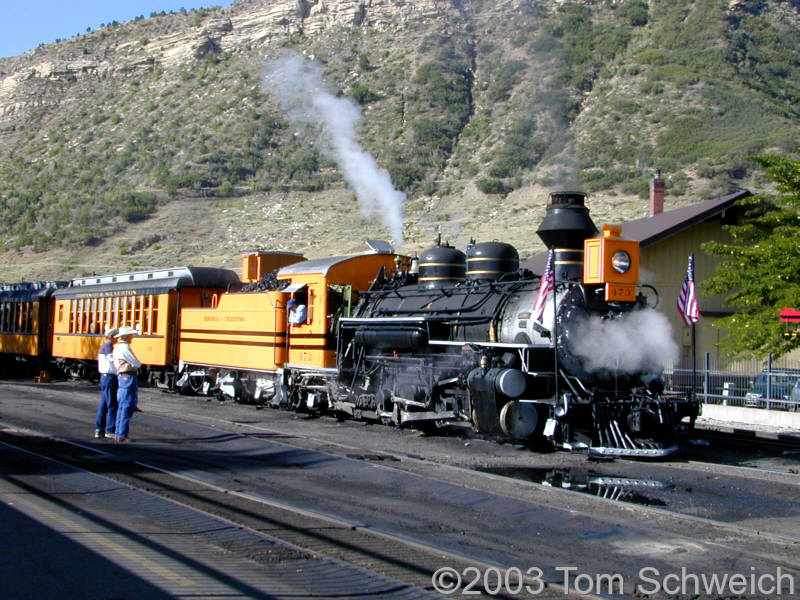 Durango and Silverton Narrow Gauge Railroad.