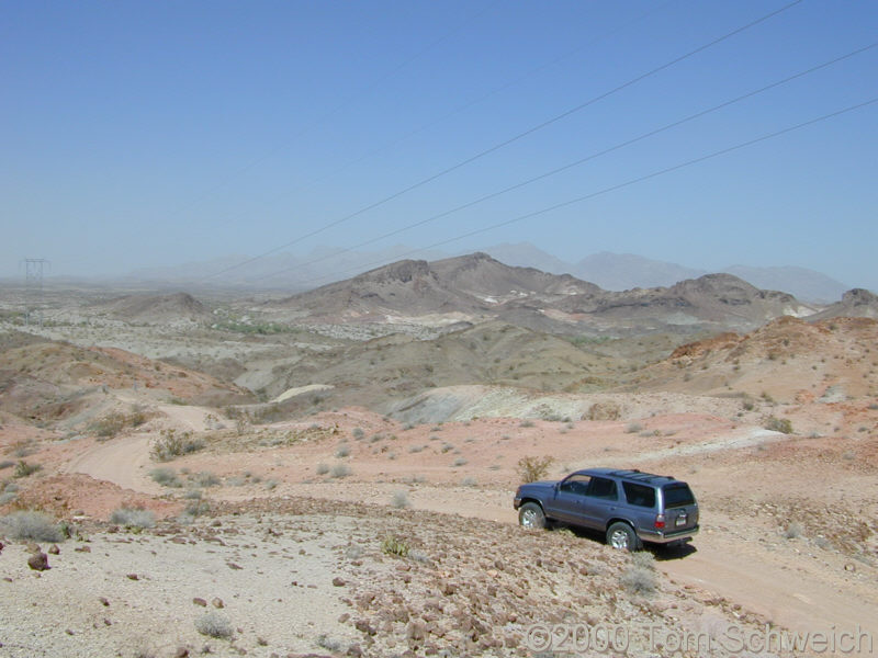 The Mojave-Mobile poses before descending into Copper Canyon and the Chemehuevi Indian Reservation.