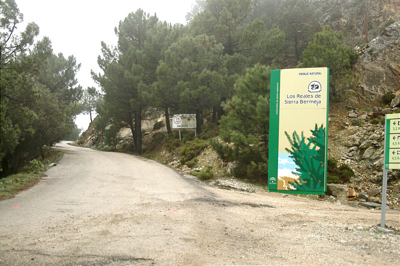 Entrance to Paraje Natural de Sierra Bermeja.