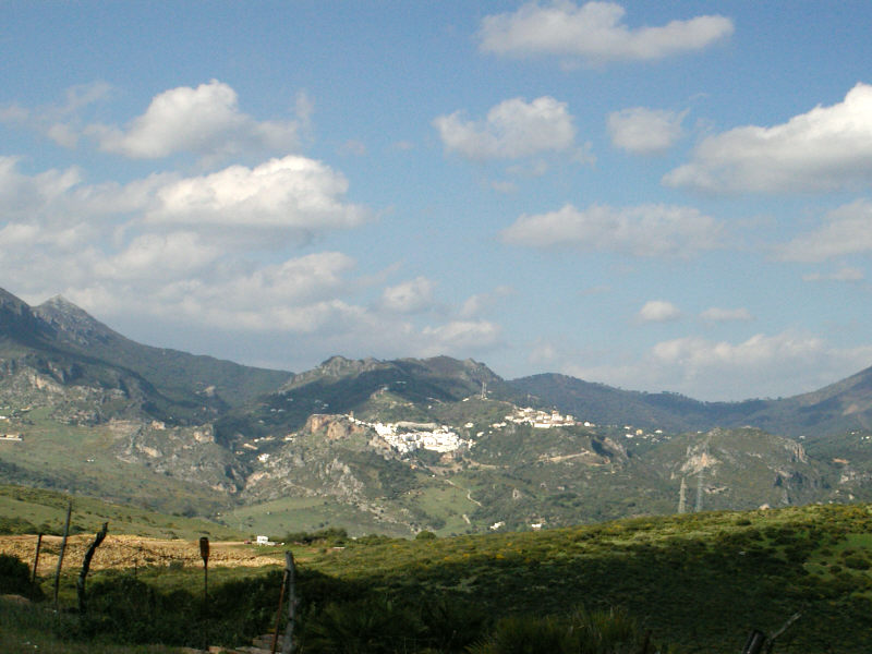 View of Casares from A-377.