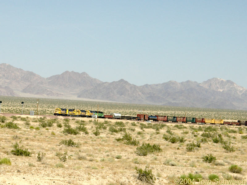 A Santa Fe train makes it way west from Bagdad to Siberia.