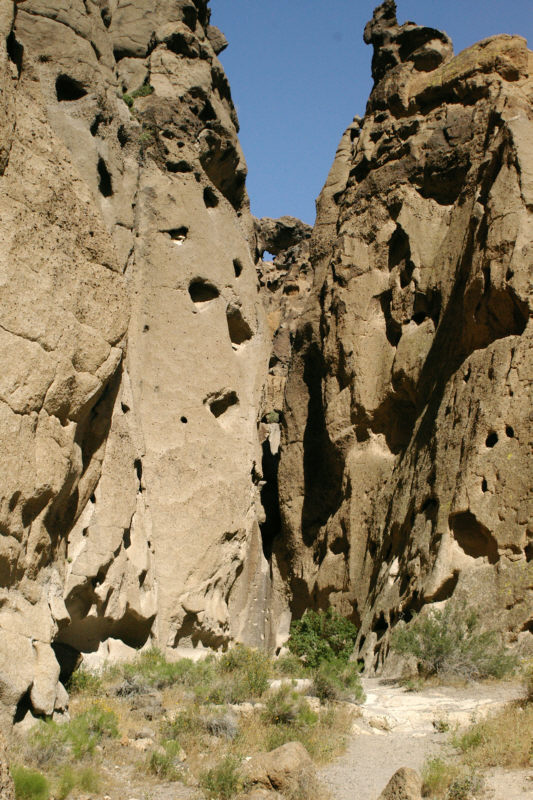 Banshee Canyon from below.