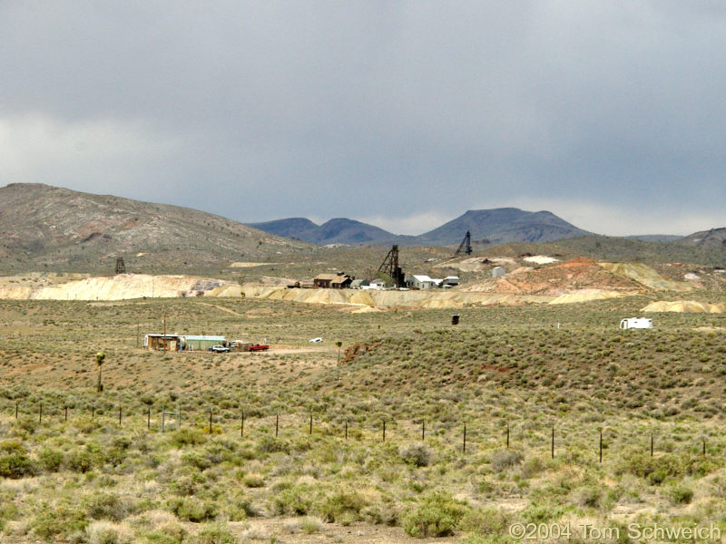 Mine headframes in Goldfield, Nevada