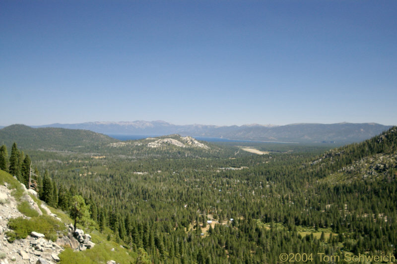 Lake Tahoe as seen from the south.