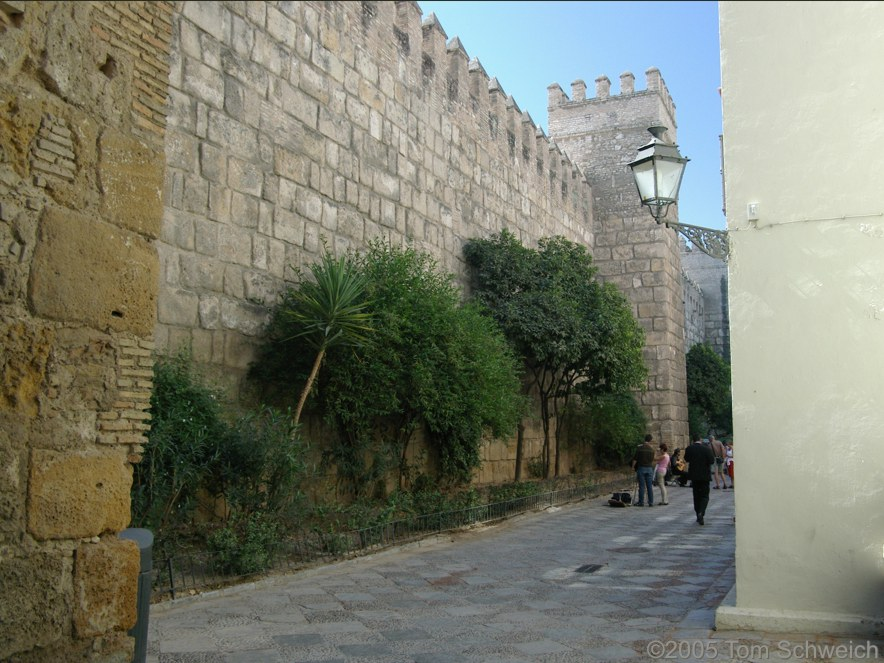 City Walls, Sevilla, Andalucia, Spain