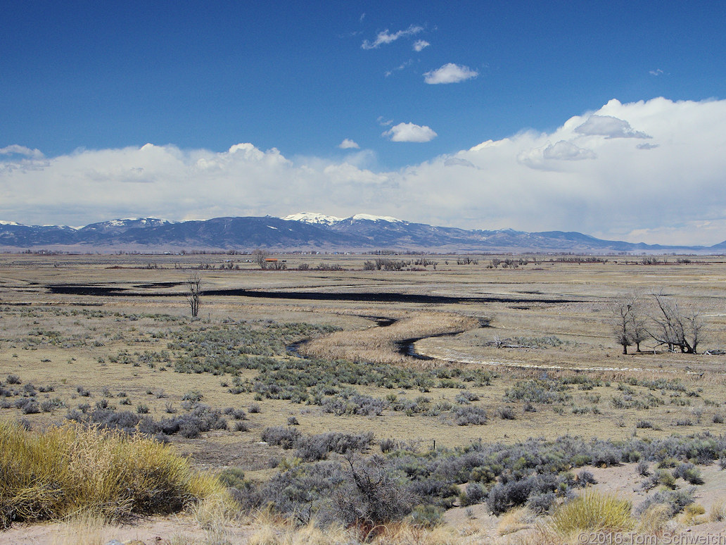 Big Slough of the Rio Grande River, the San Luis Valley and the San Juan Mountains