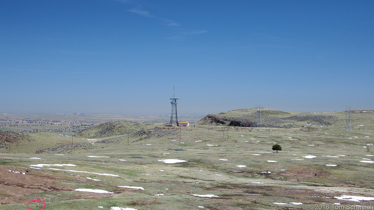 The territory between Lichen Peak and the radio tower.