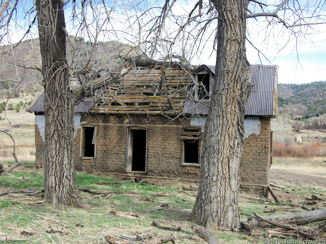 Old adobe fam house along the South Fork Purgatoire River