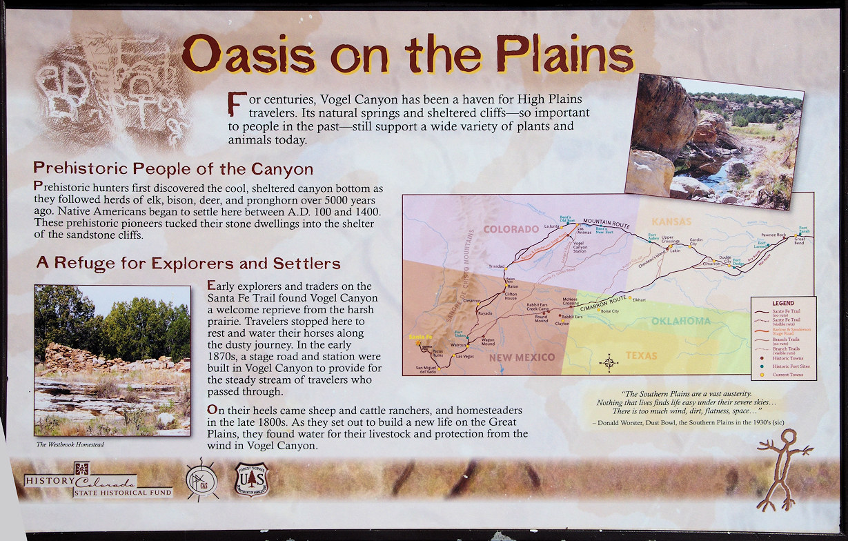 Vogel Canyon interpretive panel.
