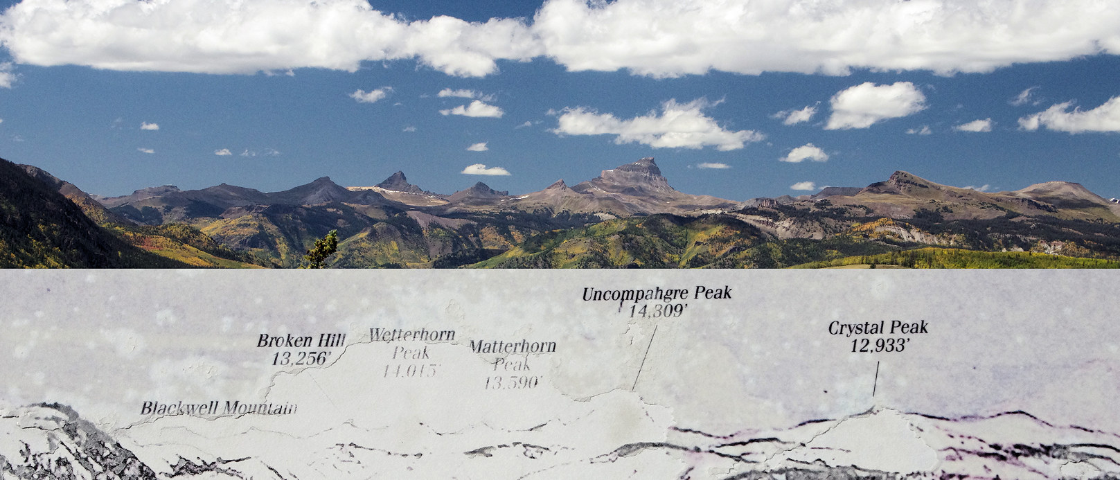 Colorado, Hinsdale County, Uncompahgre Peak