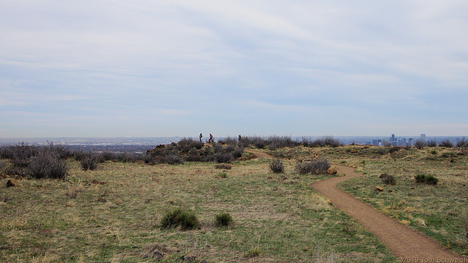 Colorado, Jefferson County, South Table Mountain, Cretaceous Trail, Tertiary Trail