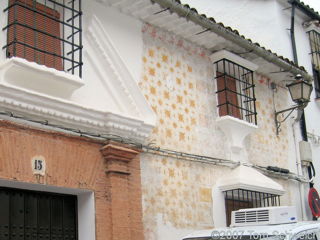House Painting, Grazalema, Cadiz, Andalucia, Spain