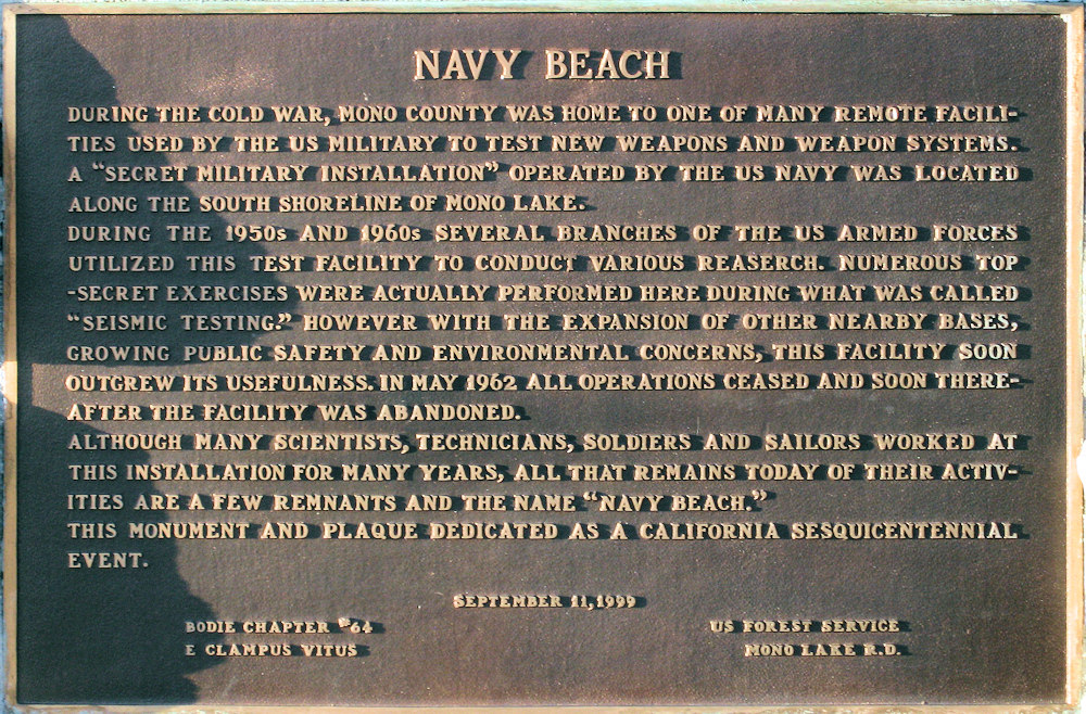 California, Mono County, Navy Beach
