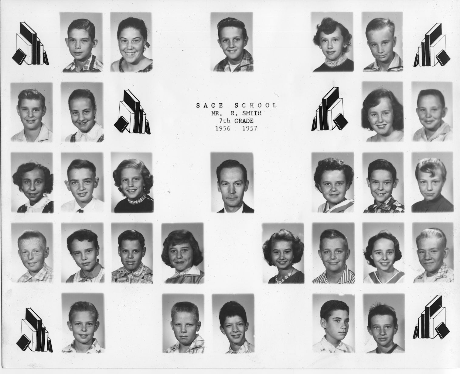 Sage School, Seventh Grade, 1956-7, Mr. Smith