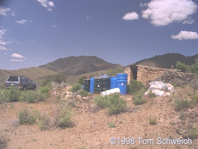 Chemical storage at the Columbia Mine.