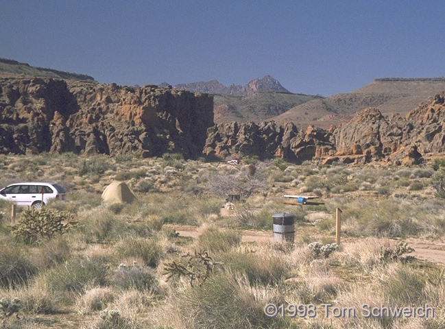 General view of the campground at Hole in the Wall.